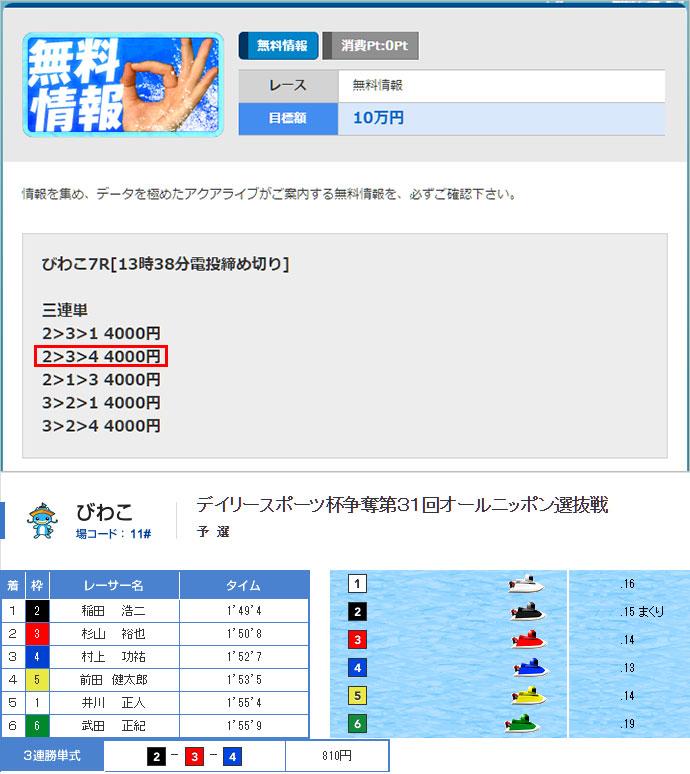 アクアライブ10/29の無料情報