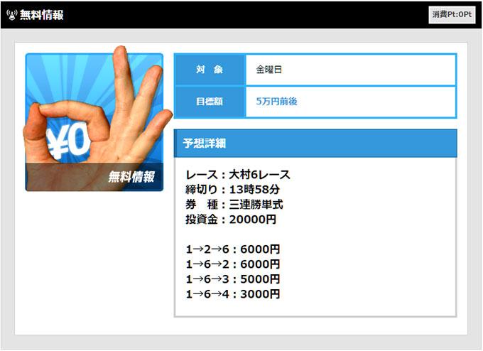 予想Live10/7の無料情報