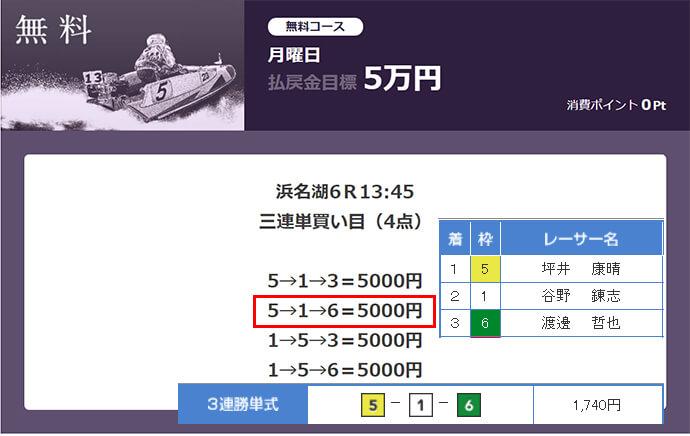 必勝モーターボート5/1の無料情報