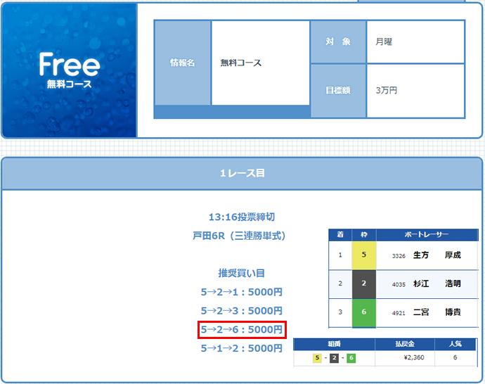 ボートガイド9/25の無料情報