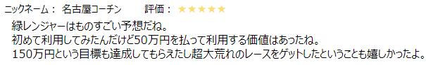 競艇レンジャー口コミ